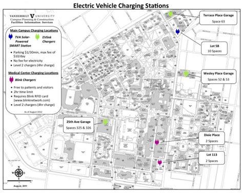 vanderbilt map vanderbilt doubles on cus electric vehicle charging