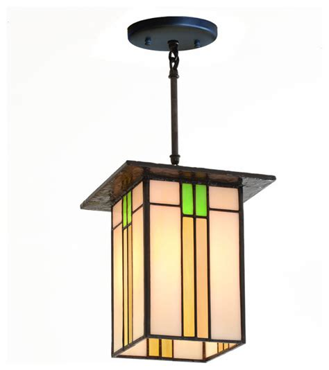 Craftsman Style Pendant Lighting Prairie Mission Lantern 657 Craftsman Pendant