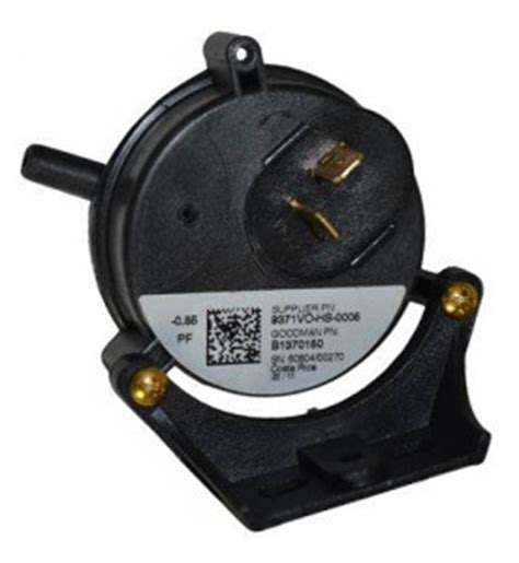 L Replacement Parts by Pressure Switch B1370150 Goodman Amana Janitrol 85 Wc