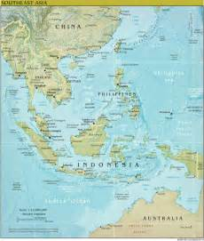 South East Asia Physical Map by The World Factbook