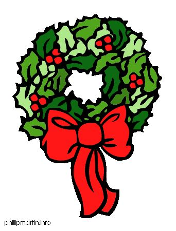christmas wreath clipart free clip art images pictures to