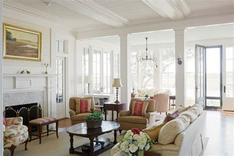 Farmhouse Livingroom Living Room At Spring Island Sc Historical Concepts