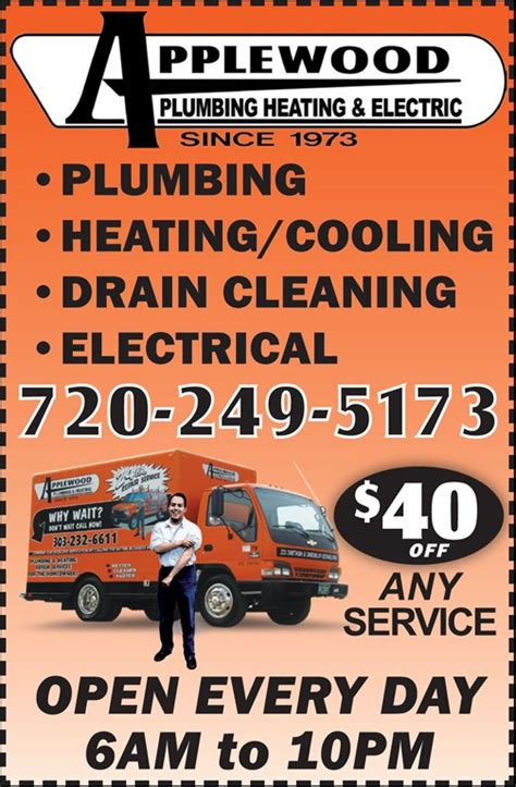 Applewood Plumbing And Heating Denver by Applewood Plumbing Heating Electric Denver Co 80212
