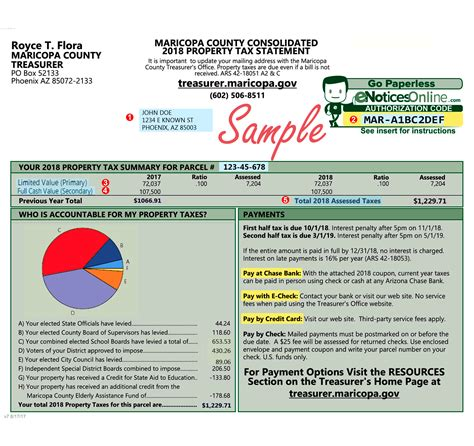 Property Tax Assessment Card Template by Tax Bill