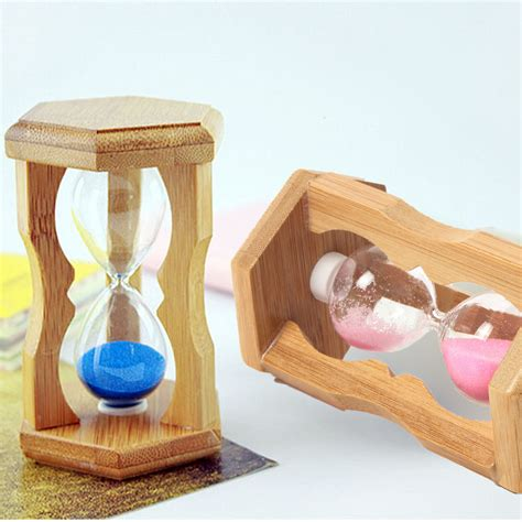 apple home decor accessories 1 minute sandglass bamboo frame hourglass timer time