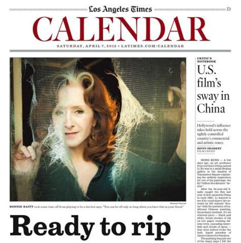 los angeles times calendar section cover of la times calendar section bonnie raitt