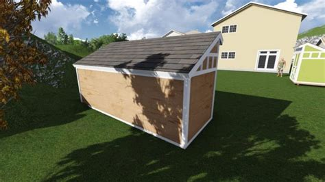 6 X 16 Shed by 6x16 Saltbox Shed Plan