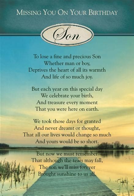Missing On Birthday Quotes Graveside Bereavement Memorial Cards A Variety You