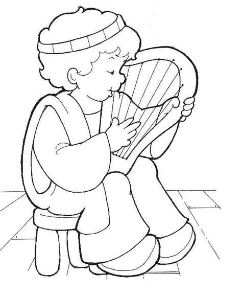 imagenes para pintar religiosas david con arpa para colorear dibujos infantiles