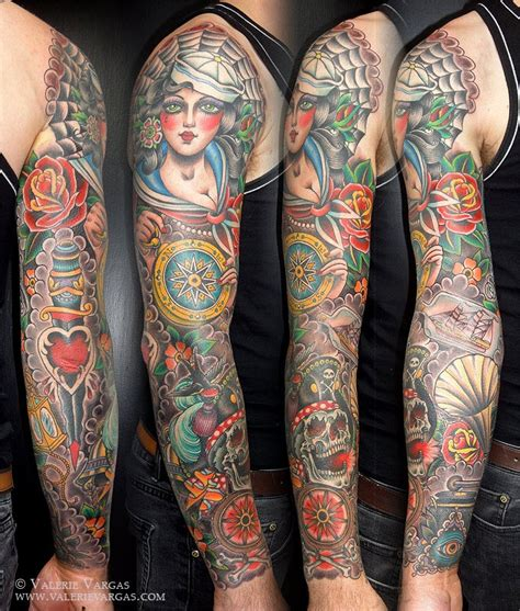 vintage sleeve tattoo designs 349 best images on ideas