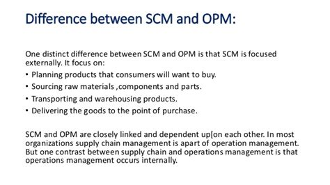 Difference Between Mba And Orgganizational Management by Supply Chain Management