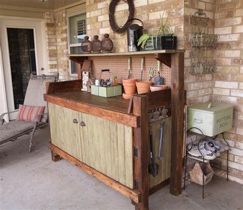 pictures of potting benches wooden potting bench steveb interior ideal place potting bench