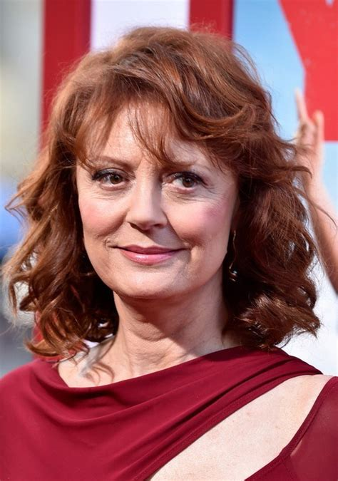 hairdos curly hair over 60 susan sarandon medium curly hairstyle with bangs for women