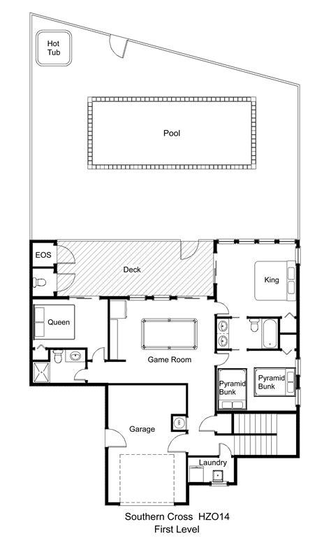 cross floor plan oceanfront vacation rental southern cross