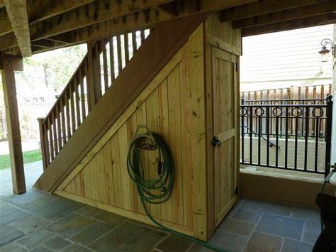 wood storage shed takes advantage   space