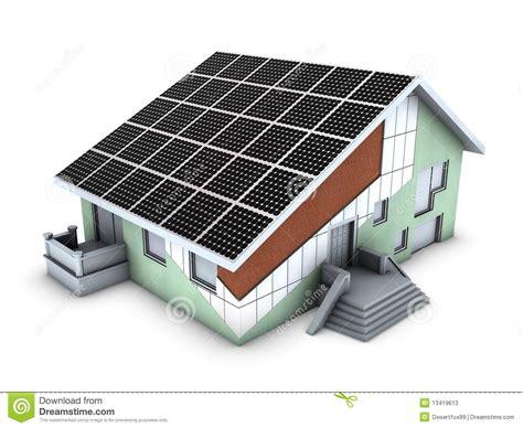 Desenhar Plantas De Casas house model with polystyrene block and solar panel stock