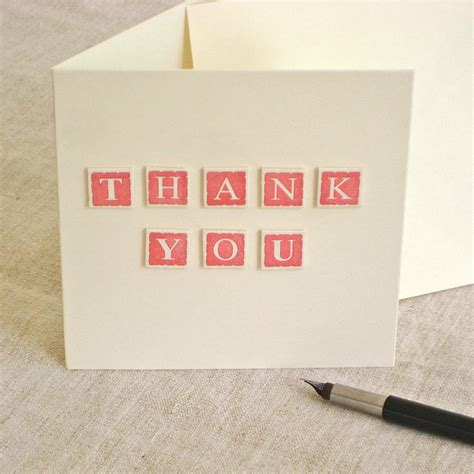 Handmade Thankyou Cards - handmade thank you card by chapel cards