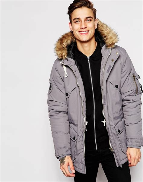 Jaket Parka Grey grey parka coat jacketin