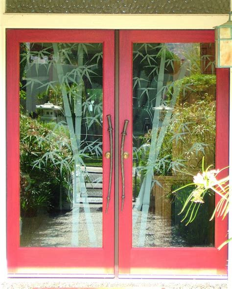 Bamboo Double Entry Glass Door Inserts Sans Soucie Bamboo Glass Door