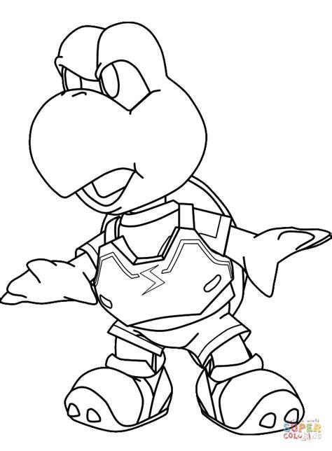super mario coloring pages koopa troopa koopa troopa turtle coloring page free printable