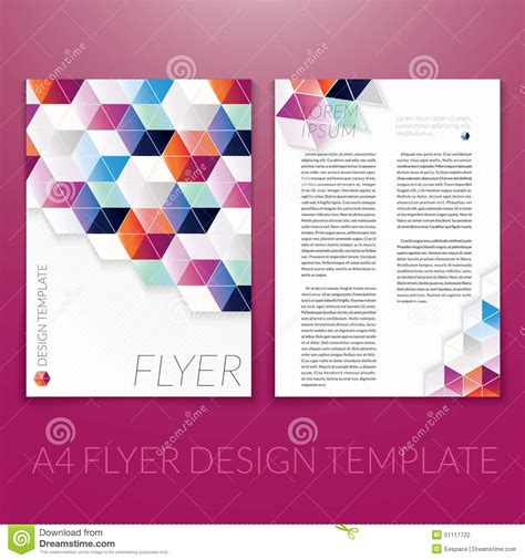 brochure templates for photoshop elements vector brochure flyer template design with triangle