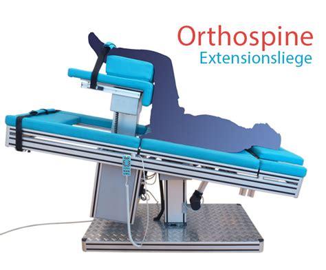 chiropraktik liege wirkung der orthospine extensionsliege chiropraktik