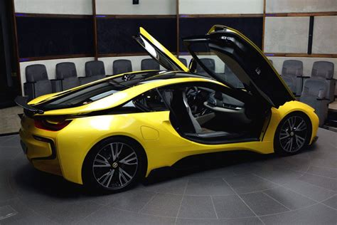 bmw i8 colors bmw i8 in abu dhabi painted in lava yellow drivers magazine