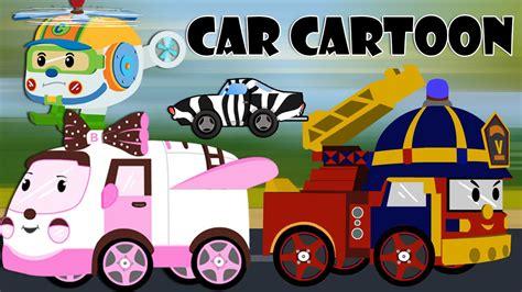 Car Cartoons For Children Police Car Cartoon Fire