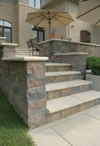 Outside Patios Ideas Unilock Estate Wall Steps And Pillar Outside Pinterest