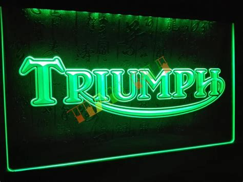 Neon Sign Home Decor Lg051 Triumph Motorcycles Services Repairs Neon Sign Home Decor Shop Crafts In Plaques Signs