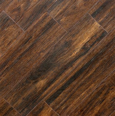 Porcelain Plank Flooring by Botanica Teak 6x24 Wood Plank Porcelain Tile Matte