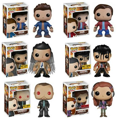 Funko Pocket Pop Keychain Television Supernatural Castiel Wings set of 6 funko supernatural pop television sam dean