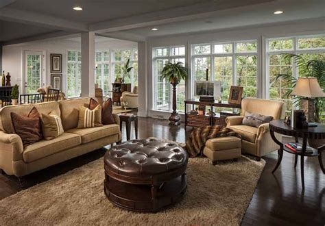 26 Stunning And Versatile Living Room Ottoman Ideas Living Rooms With Ottomans