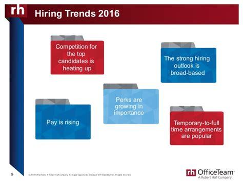 Robert Half Office Team by Officeteam 2016 Salary Guide