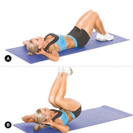 best crunches best 25 crunches ideas on exercises