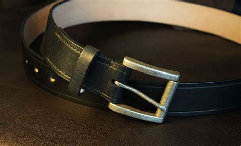 a leather belt