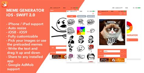Meme Generator Ios App - meme generator ios swift app theme for u
