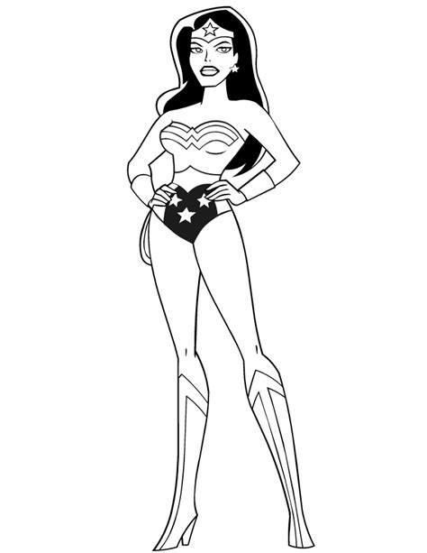 wonder woman coloring pages to download and print for free