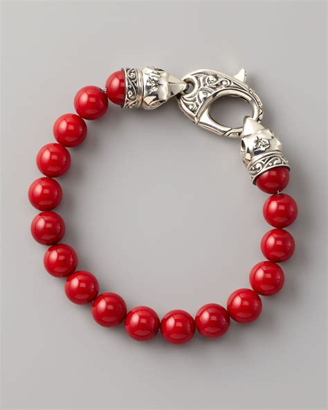 bead bracelet for lyst stephen webster coral bead bracelet 10mm in
