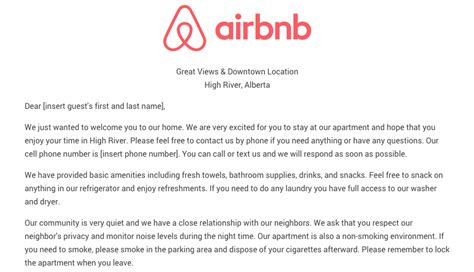 airbnb host review template download the airbnb welcome letter template as airbnb
