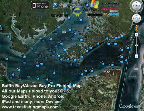 baffin bay texas map baffin bay fishing maptexas fishing maps and fishing spots