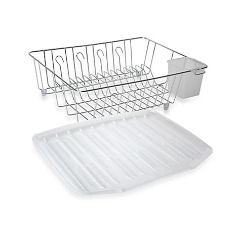 bed bath and beyond dish rack chrome large dish drainer bed bath beyond