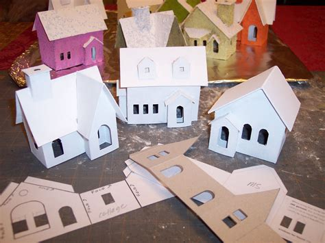 How To Make A Small Paper House - 1000 ideas about putz houses on glitter