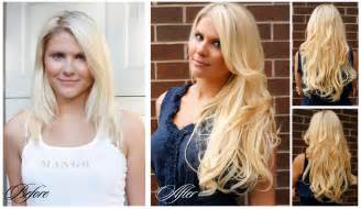 hair extensions for hair before after the luxy sisters hair extension gurus