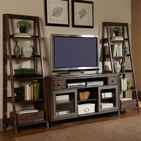 tv decor avignon five shelf ladder bookcase 72 quot h home