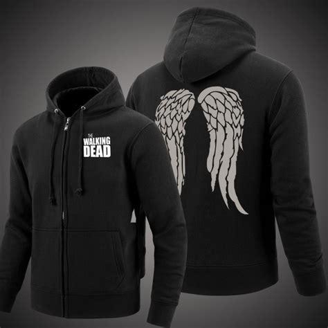 Jaket Sweater Zipper Hoodie Dead By Daylight Boy Clothing the walking dead daryl wings hoodie