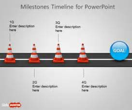 milestone powerpoint template free milestone shapes timeline for powerpoint free