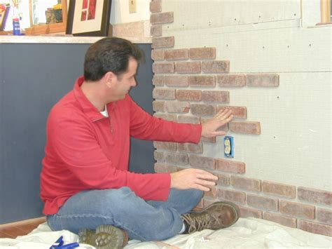 Faux Stone Kitchen Backsplash How To Attach Brick Veneer To An Inside Wall How Tos Diy