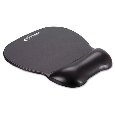 black innovera softskin wrist support mouse comfort pad