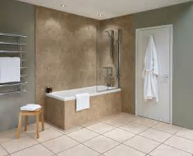 travertine nuance bathroom wall panel